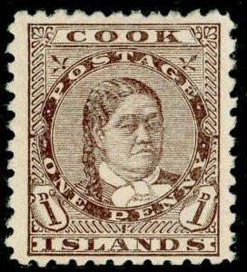 COOK ISLANDS SG13, 1d bistre-brown, UNUSED. Cat £30.
