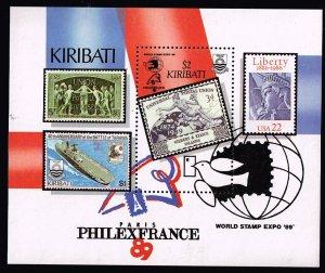 KIRIBATI STAMP 1989 EXPO MNH S/S
