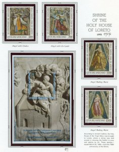 VATICAN CITY 1995  COMPLETE YEAR SET STAMPS WITH BOOKLET MINT NH ON ALBUM PAGES