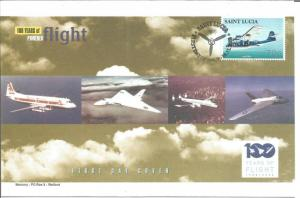 100 Years Of Flight FDC Consolidated PBY-5A Catalina 2003 St. Lucia Z5502