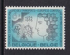 Belgium  #595  MNH 1963 transport ministers conference