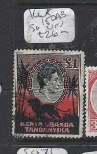 KENYA,UGANDA,TANGANYIKA  (PP2905B)  KGVI  L1  LION SG 150AB   VFU