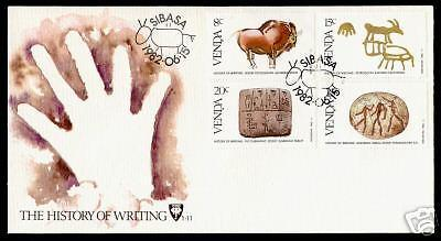 Venda 60-3 on FDC - The History of Writing, Animals