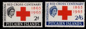 Pitcairn Islands Scott 36-37 MH* 1963 Red Cross stamp set