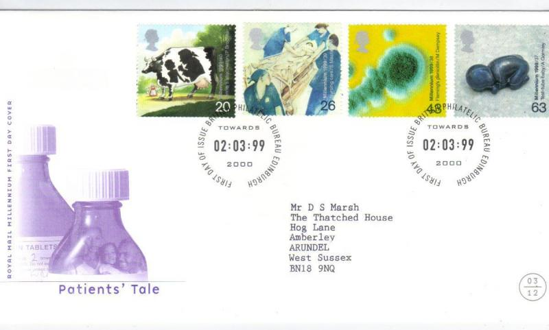 GB 1999 THE PATIENTS TALE FDC CAT £8