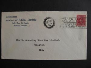 CANADA 1944 Samson & Filion Ltd Quebec advertising cover, check it out!