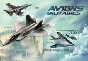 Burundi MNH S/S Military Planes #2