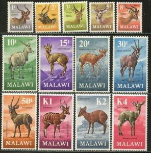 MALAWI Sc#148-160 SG375-387 1971 Antelopes Complete Set OG Mint LH