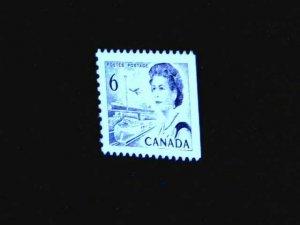 Canada 6ct BLACK QEII CENTENNIAL HB PAPER SCOTT 460ii VF MINT NH (BS17276)