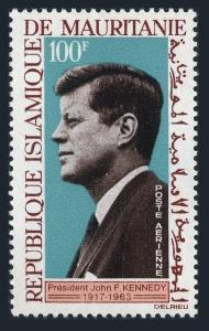 Mauritania C40,C40a sheet,MNH.Michel 241,Bl.3. President John F.Kennedy.1964.
