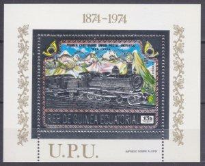1974 Equatorial Guinea 391/B112silver 100 years UPU - Locomotives 20,00 €