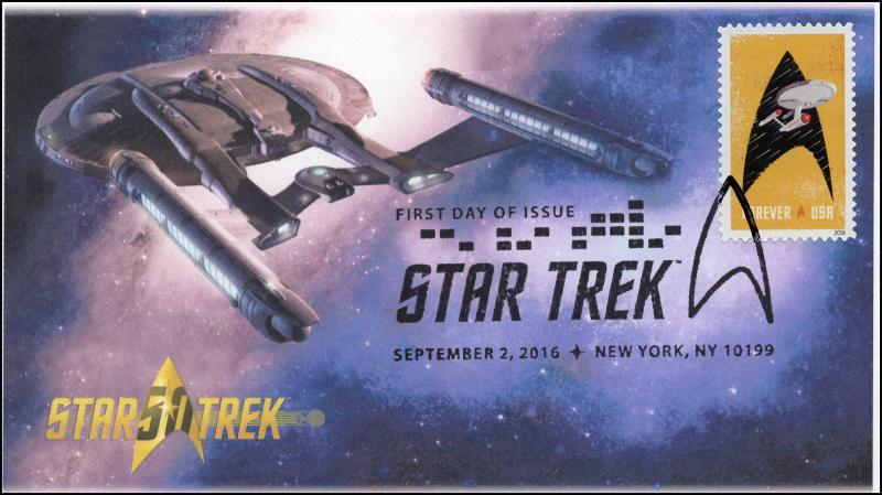 2016, Star Trek, 50 years, Pictorial, Postmark, FDC, 16-260