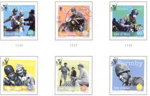 Isle of Man  Sc 1039-44 2004 George Formby stamp set used