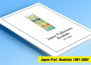 COLOR PRINTED JAPAN PREFECT. BOOKLETS 1991-2002 STAMP ALBUM PAGES (107 ill. pgs)