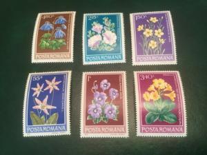 ICOLLECTZONE Romania #2824-29 Flowers VF NH (Bk4)