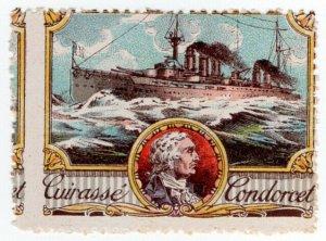 (I.B) Cinderella : Delandre Great War Ships - Cuirasse Condorcet (France)
