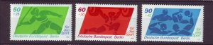 J24377 JLstamps 1980 germany berlin set mnh #9nb168-70 sports