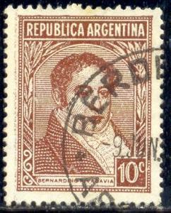 Bernardino Rivadavia, 1st President, Argentina stamp SC#431 used