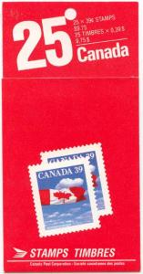 Canada - 1989 39c Pane of 25 in Complete Booklet #BK115