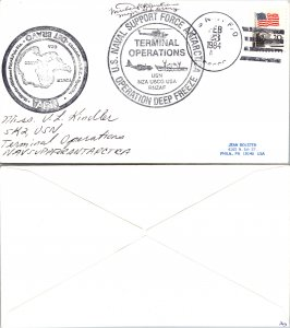 1984 US NAVY + CACHET + SIGNED, 1984, Polar