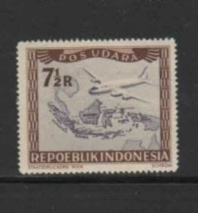 INDONESIA #C29 1949 7 1/2r AIRCRAFT MINT VF NH O.G