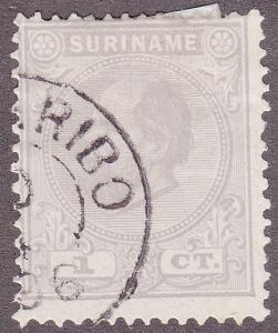 Surinam 1 Hinged 1885 King William III 1¢