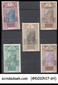 FRENCH GUINEA - 1913-33 SCOTT#63-65 & 74-75 - 5V - MINT NH