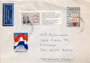 Netherlands, Airmail, Medical, Flags
