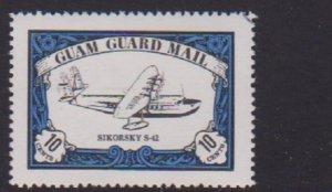 GUAM GUARD MAIL CINDERELLA STAMP (SIKORSKY PLAIN)   . LOT#149