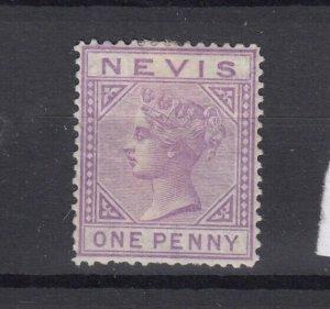 Nevis QV 1882 1d Lilac Mauve SG26 MH (Gum) JK2426