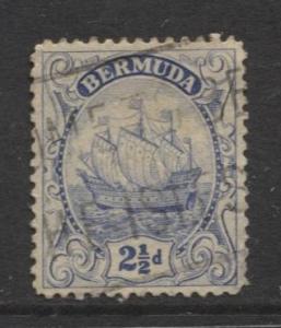Bermuda - Scott 87 - Caravel - 1932 - Used -  Single 2.1/2d Stamp