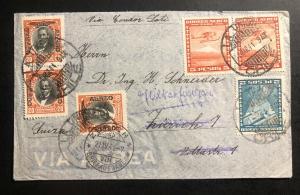 1941 La Union Chile Airmail Cover to Zurich Switzerland