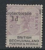 Bechuanaland  SG 41 Mounted Mint - Opt   - Major Position flaw Shift