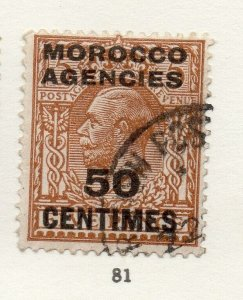 Morocco Agencies 1920s-30s Early Issue Fine Used 50c. Optd Surcharged NW-169080