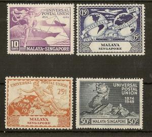 Singapore 1949 UPU Set Mint