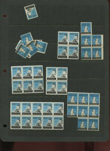 40+ VINTAGE HOMELESS BABIES FUND NATIVE SONS AND DAUGHTER POSTER STAMPS (L1217)