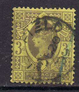 GB 1887 - 92 QV 3d Purple/Yellow Jubilee SG 202 /3  ( C521 )