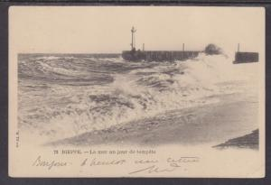 France Sc 116 used 1902 PPC Dieppe to Annecy, VF