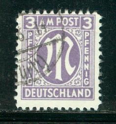 Germany AM Post Scott # 3N2, used, variation