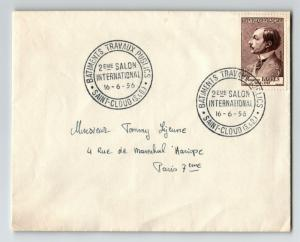 France 1956 Barres Issue on Salon International Cover - Z13382