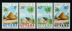 GUYANA 1973 Complete Republic Day Set SG 581 to SG 584 MINT