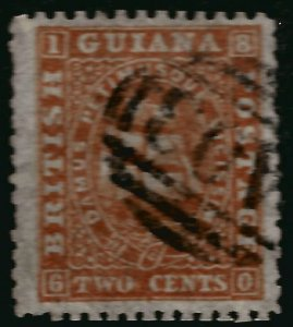 British Guiana SG52 Used FVF short sides Cat$32..Fill a Key spot!