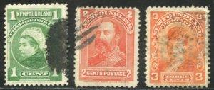 Newfoundland Scott 80, 82-83 - UFH - SCV $1.50