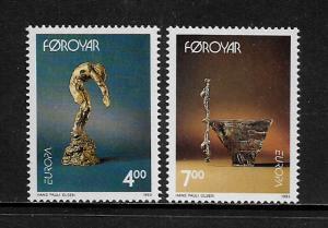 Faroe Is #252-3 MNH Set - Europa