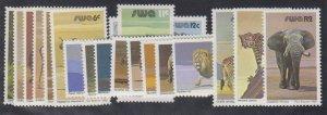 Southwest Africa - 1980-85 - SC 447-63 - NH - Complete Set - Wild Animals