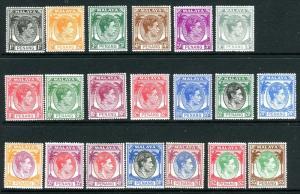 PENANG-1949-52  An average mounted mint set to $5 Sg 3-22