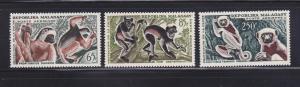 Malagasy Republic C67-C69 Set MNH Animals, Lemurs (A)