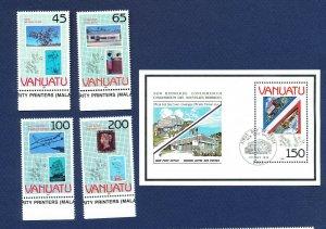 VANUATU - # 519-523 - - VFMNH set & S/S - stampworld 1990 expo