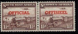SOUTH WEST AFRICA GVI SG O25, 1½d purple-brown, M MINT. Cat £35.