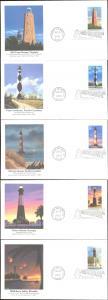 #3787-91 Southeastern Lighthouses Fleetwood FDC Set